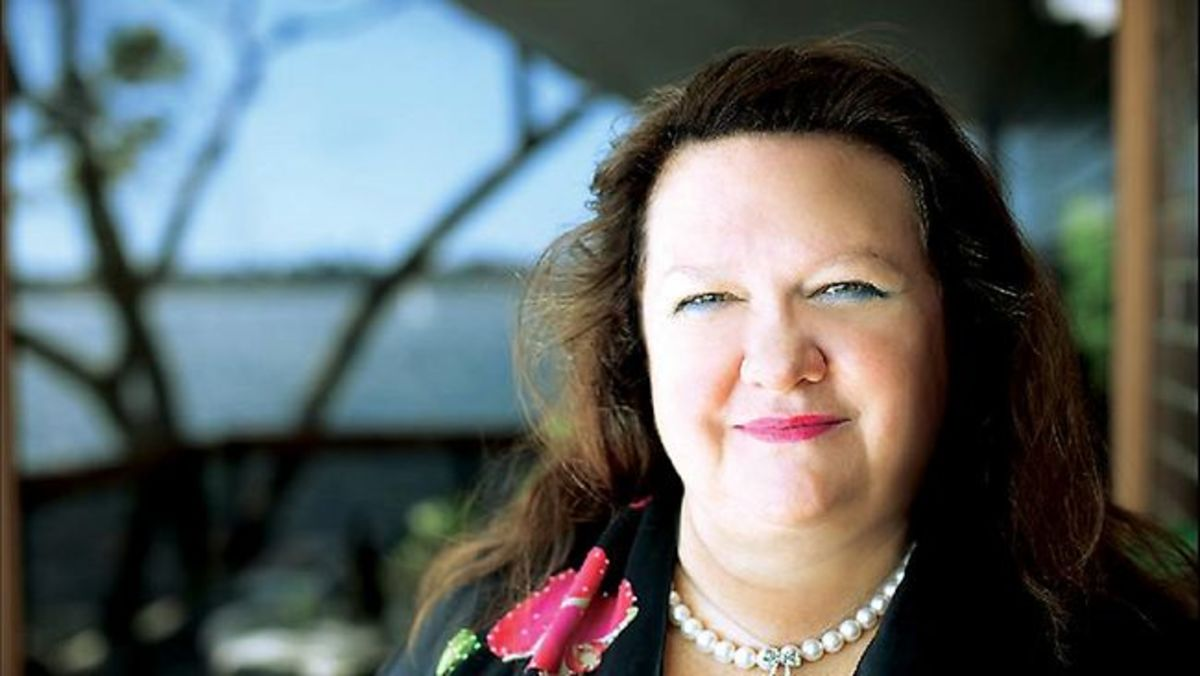 Gina Rinehart. Photo from news.com.au