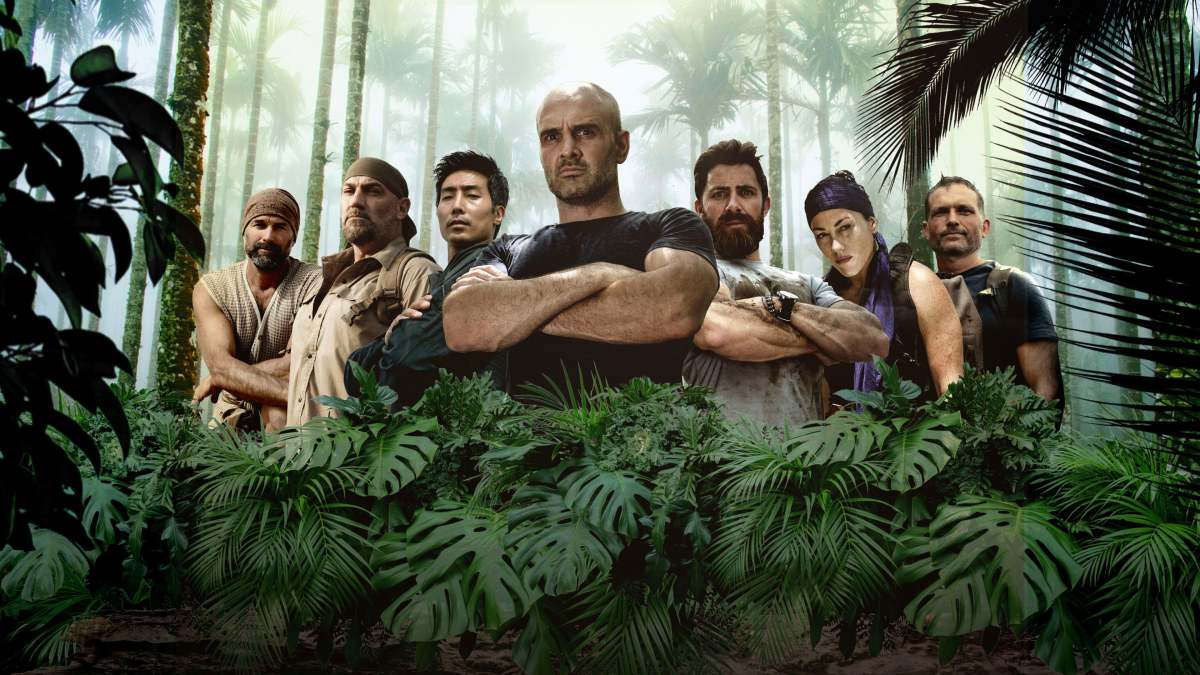 Ed Stafford (center) takes on all comers