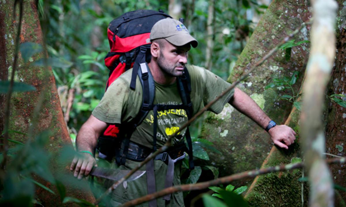 Stafford treks along the Amazon River