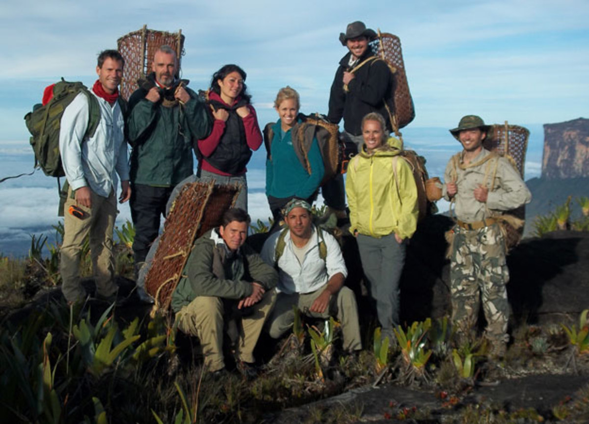 "The nine volunteers for the show ""Out of the Wild: Venezuela"""