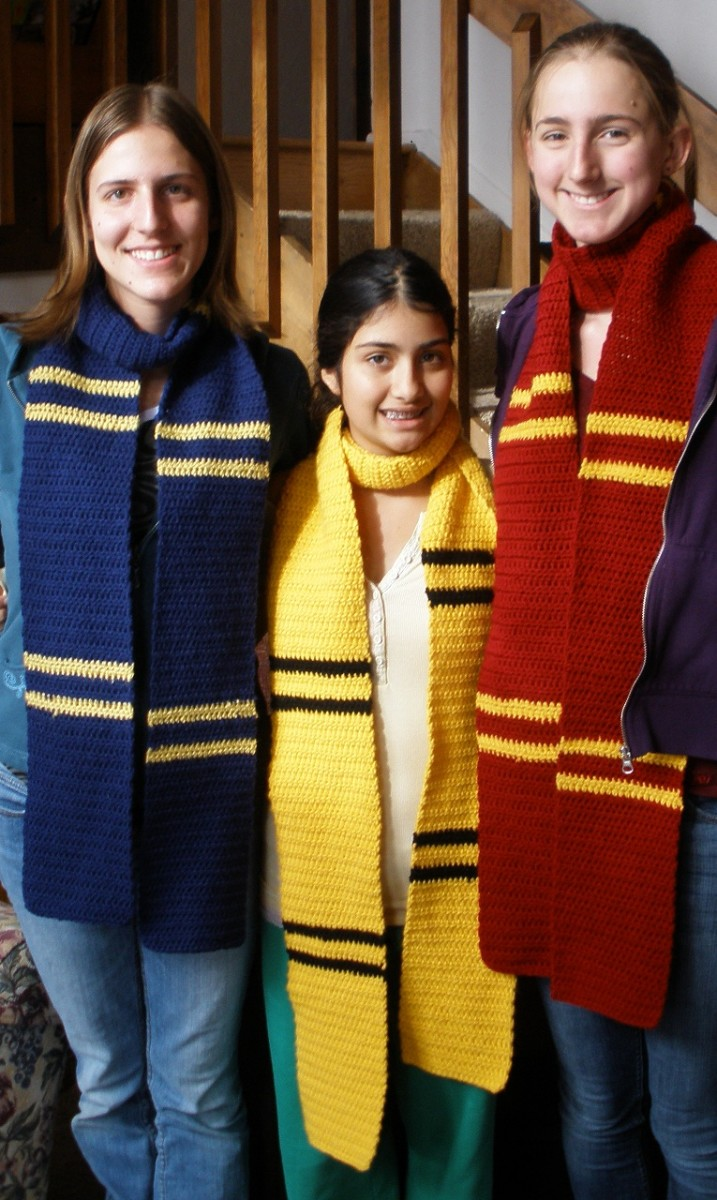 harry potter crochet how to make your own hogwarts house