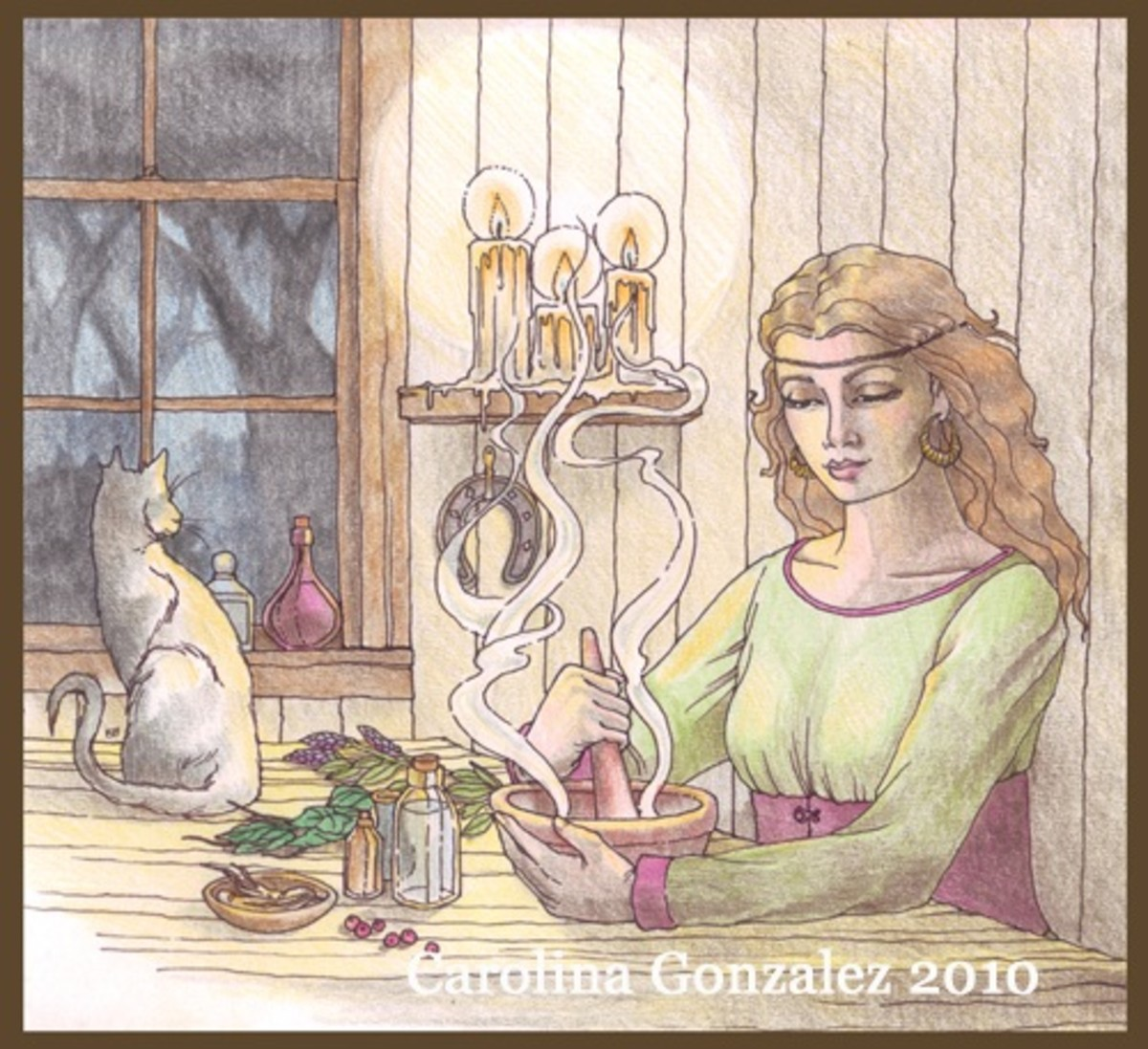Female gathers would have a greater knowledge of herbs than farming people.
