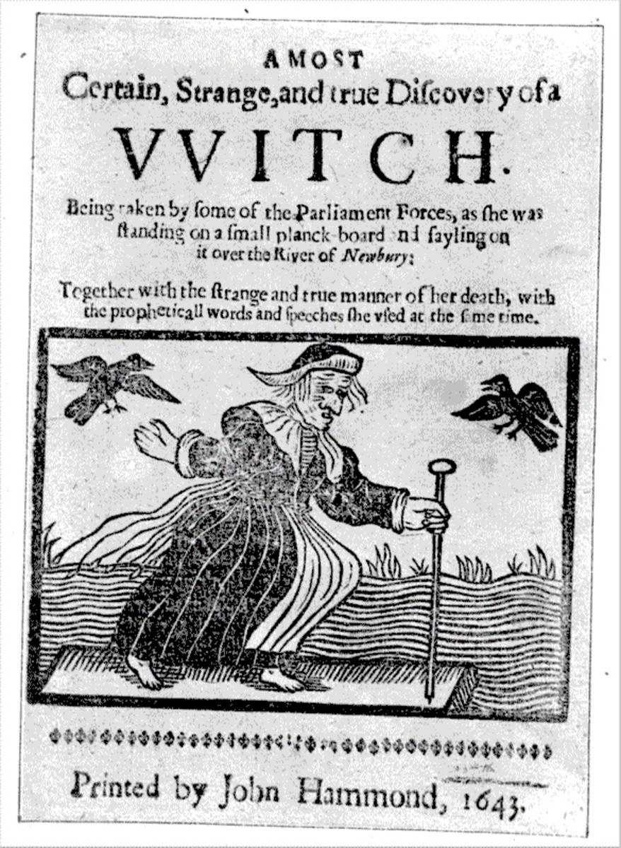17th century pamphlet about the witch of  Newbury