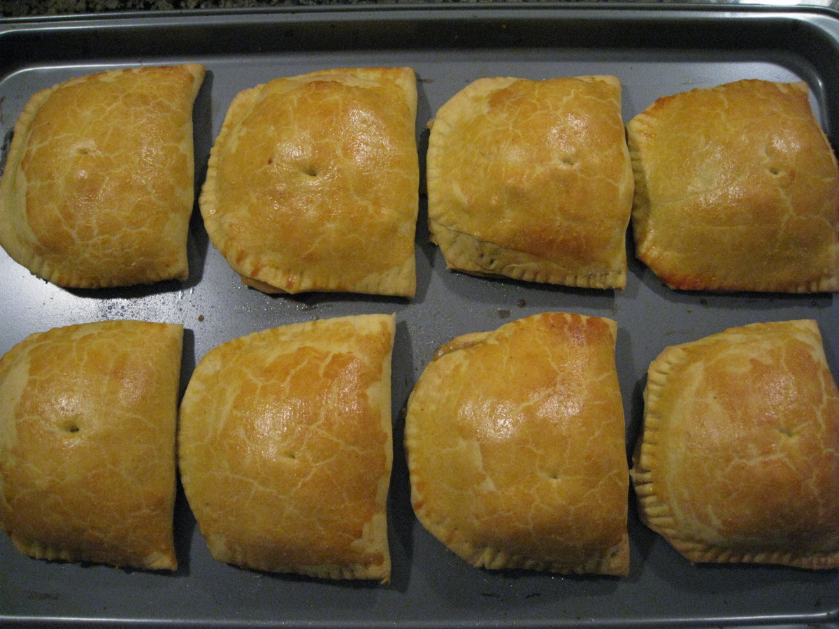 This recipe yields 8 Jamaican Patties; enjoy one fresh out of the oven!