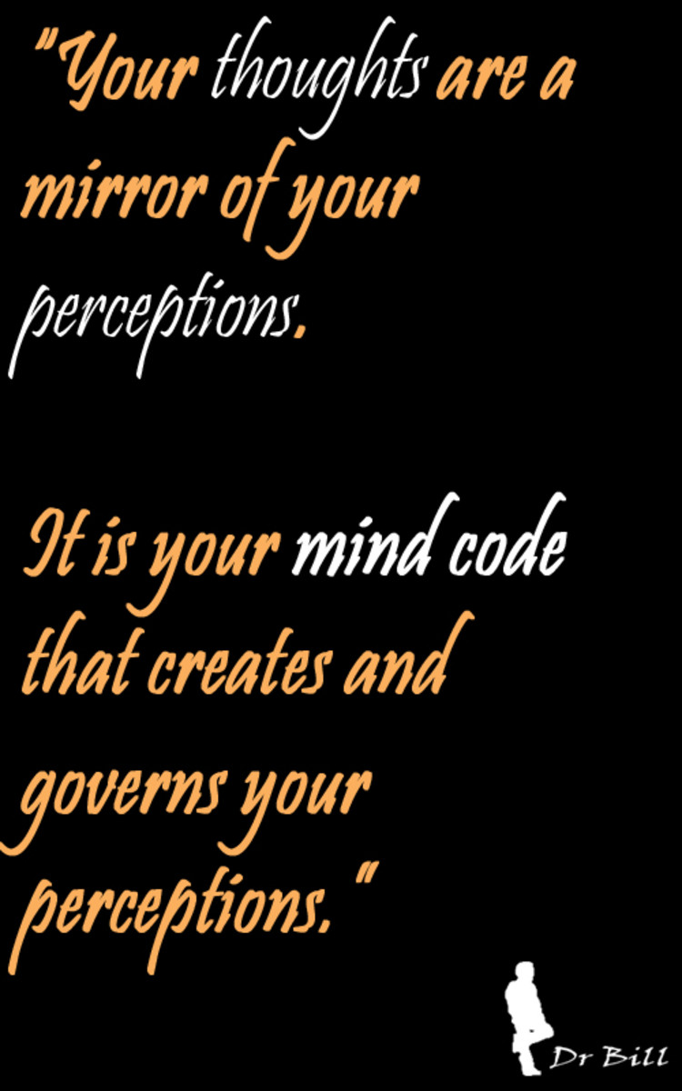 Take back the control of your perceptions and your thoughts.