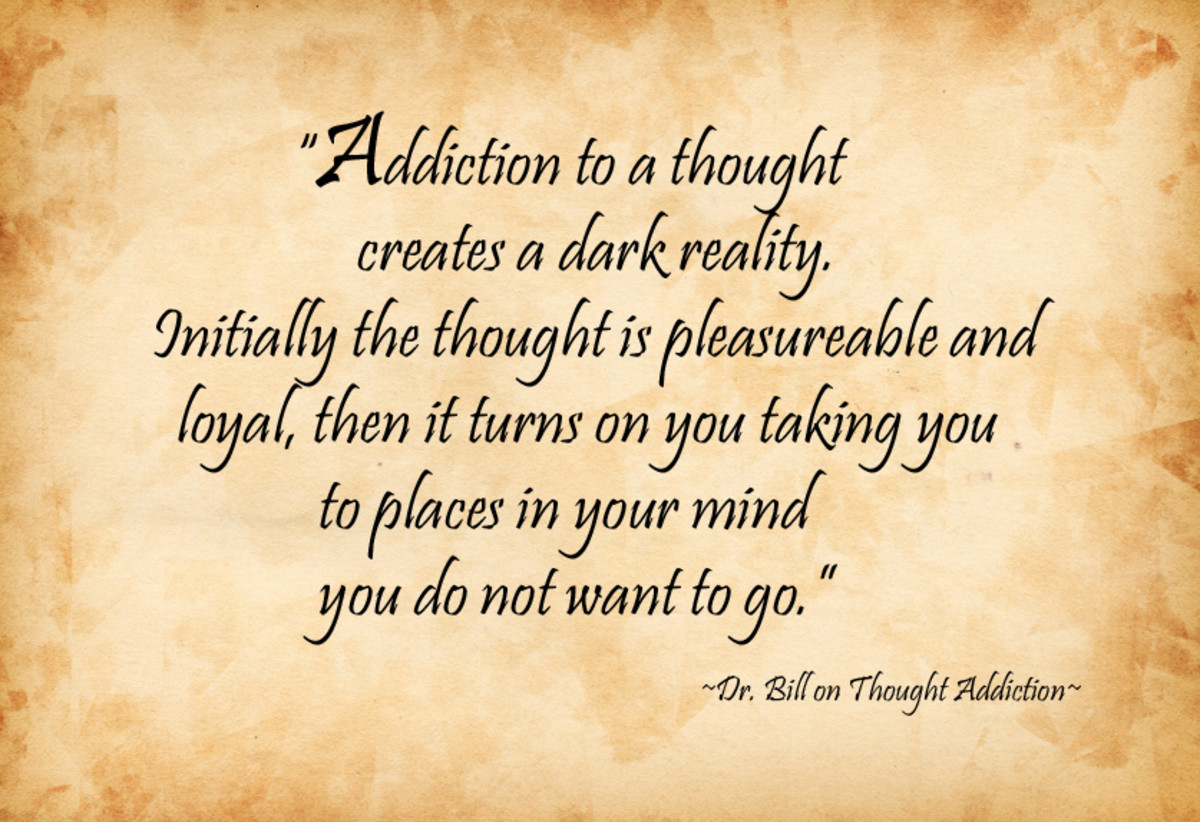 Thought addiction creates a shadow over your perceptions.
