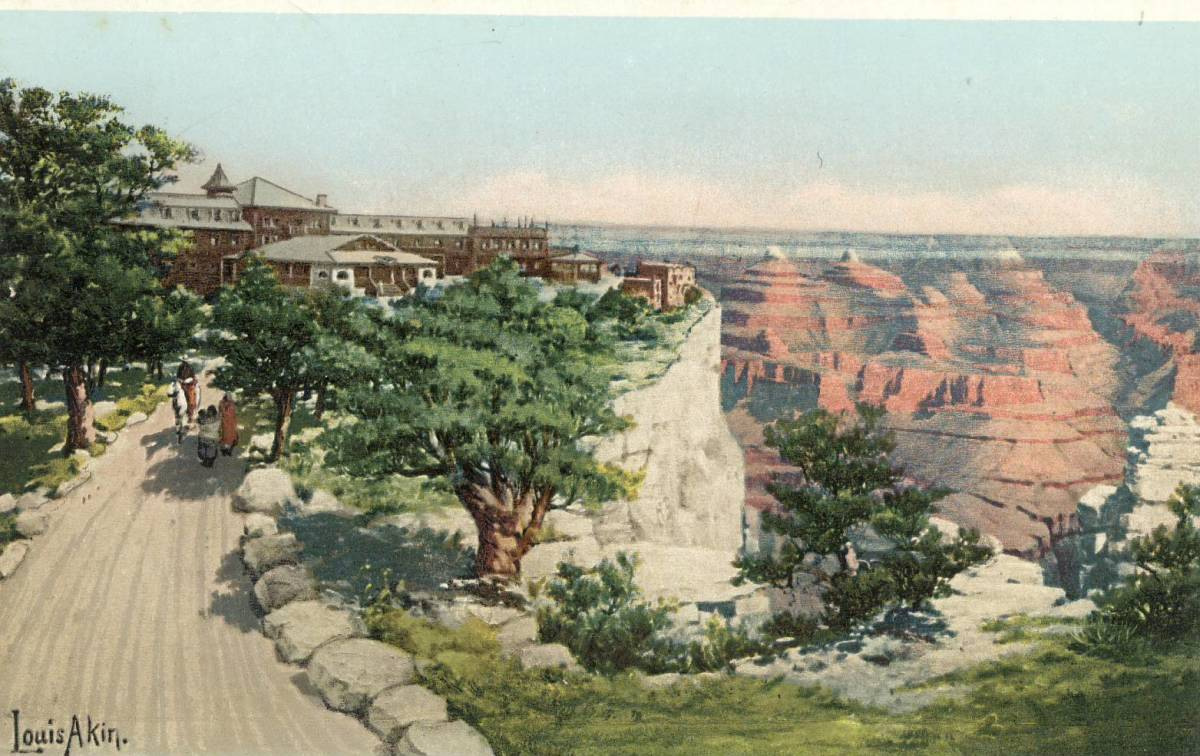 The Fred Harvey El Tovar Hotel circa 1910, Grand Canyon Arizona