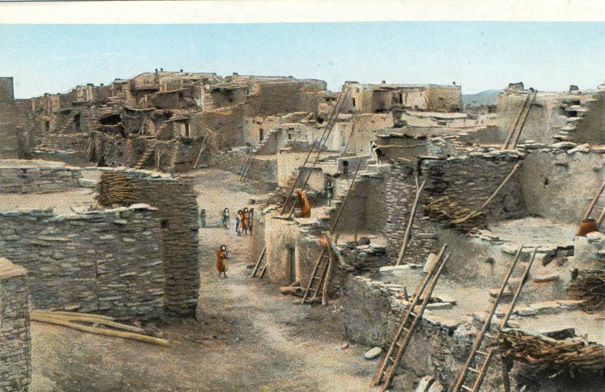 Hopi Village at Oraibi Arizona circa 1910