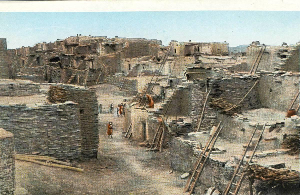 Hopi Village at Oraibi Arizona circa 1910