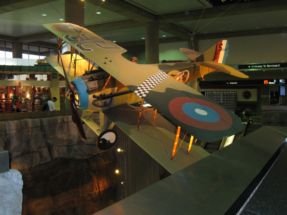 "World War I SPAD XIII Aircraft like the one flown by Frank Luke Jr - ""Arizona's Balloon Buster"""