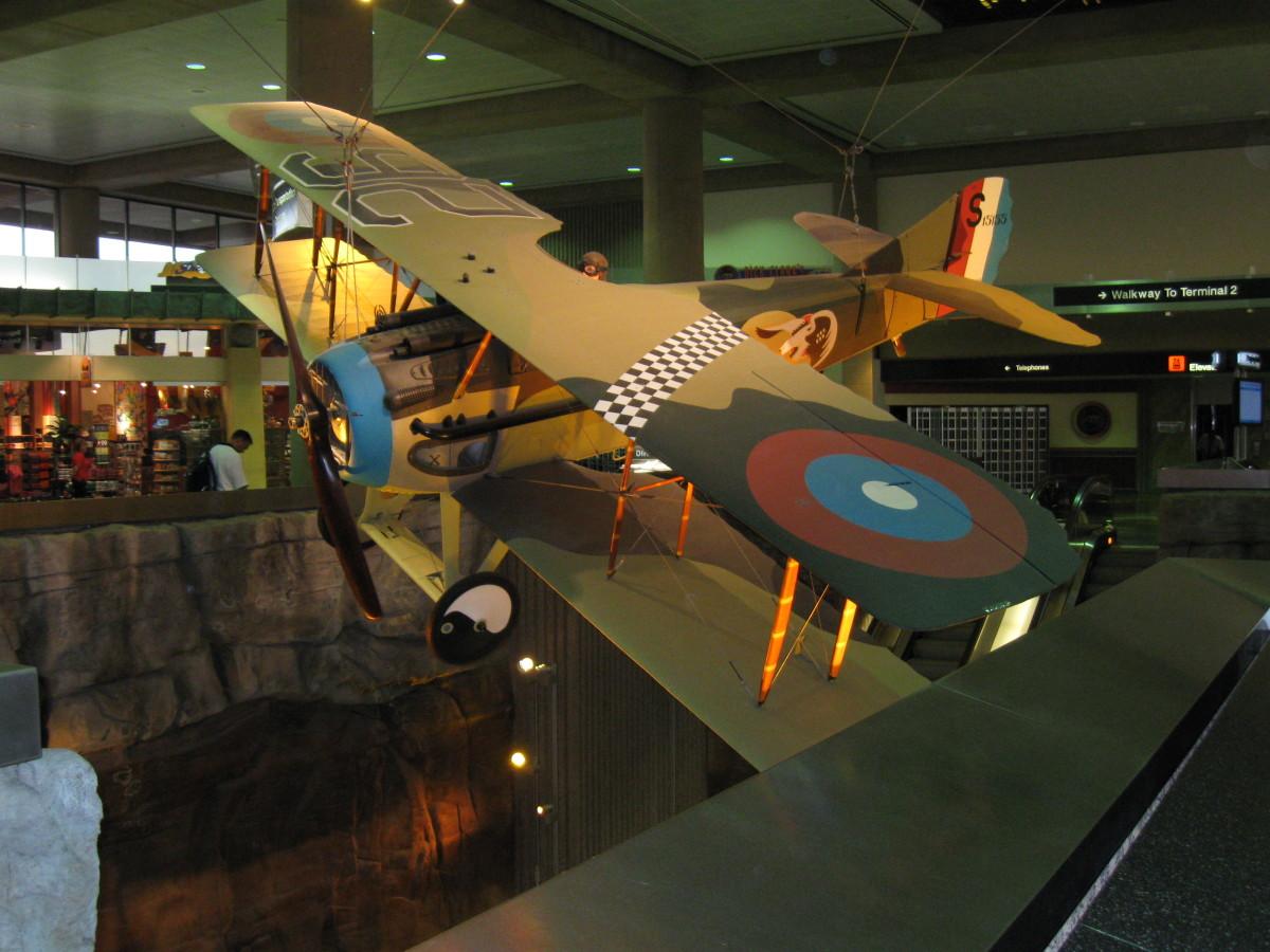"World War I SPAD XIII Aircraft like the one flown by Frank Luke Jr - ""Arizona's Balloon Buster"""