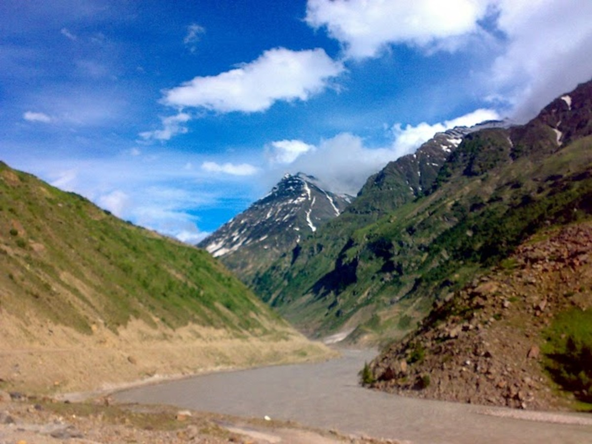 Way to Srinagar from Leh - you will find extraordinary never seen before views on your way back.