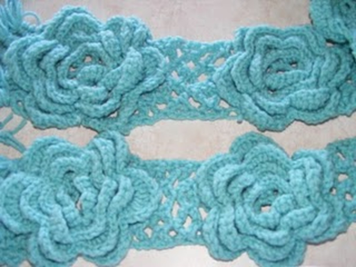 Pretty Flower Scarf
