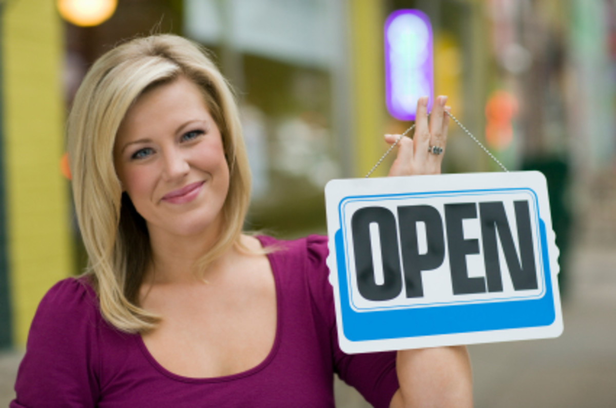 Small store business is open