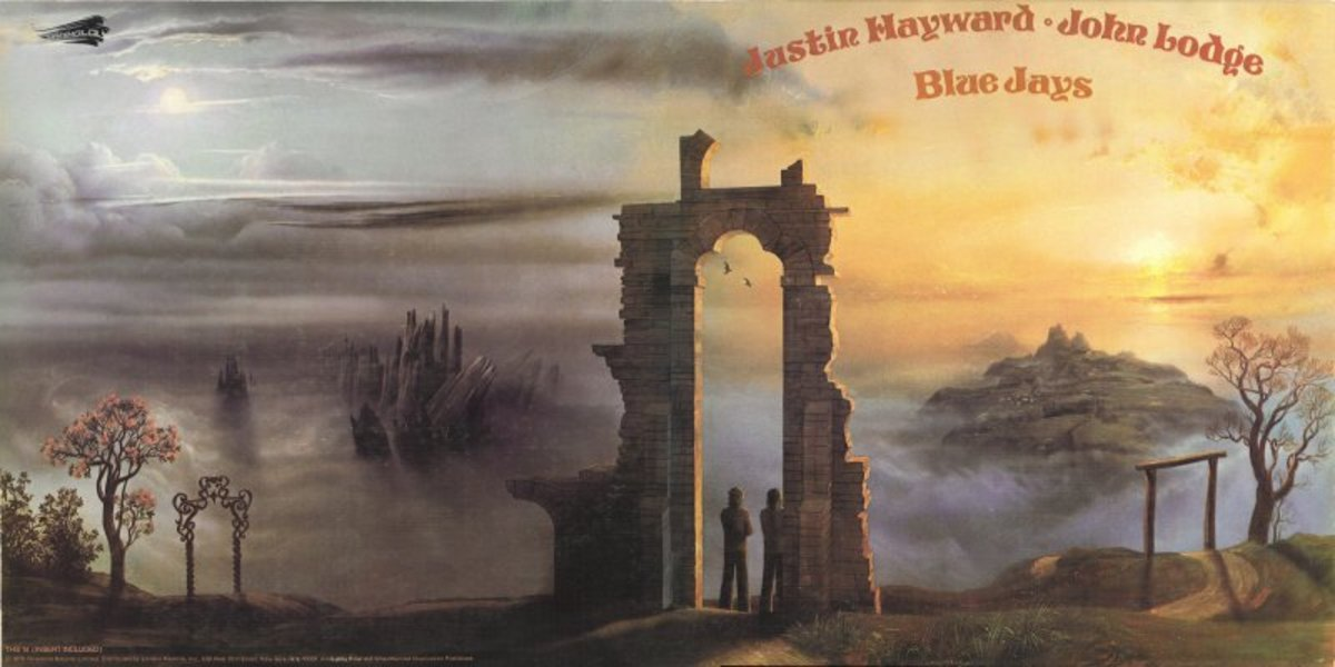 """Another excellent example of Phil Travers gatefold-worthy artwork is the """"Blue Jays"""" album from Moody Blues members Justin Hayward and John Lodge."""