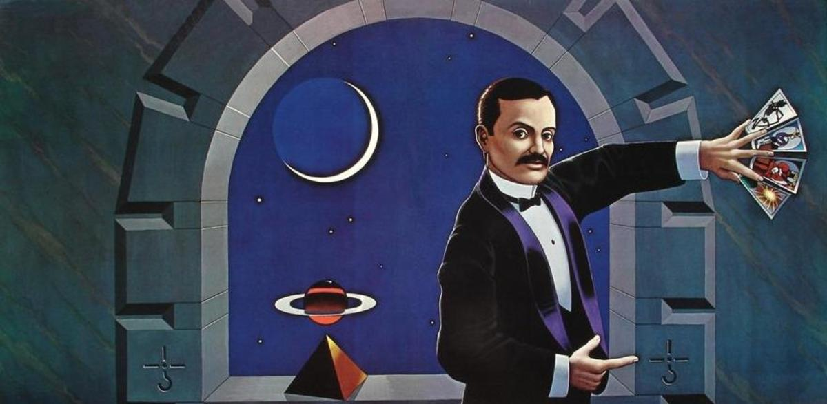 Lynn Curlee's fantastic artwork depicts magician Harry Houdini.