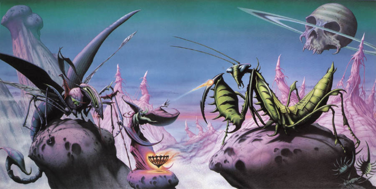 To fully enjoy this awesome Rodney Matthews sleeve, you must view it in its entirety!