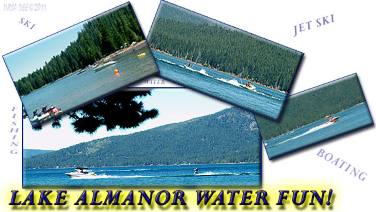 Lake Almanor offers skiing, boating, fishing, jet skiing, lounging, and everything water sport you can imagine!