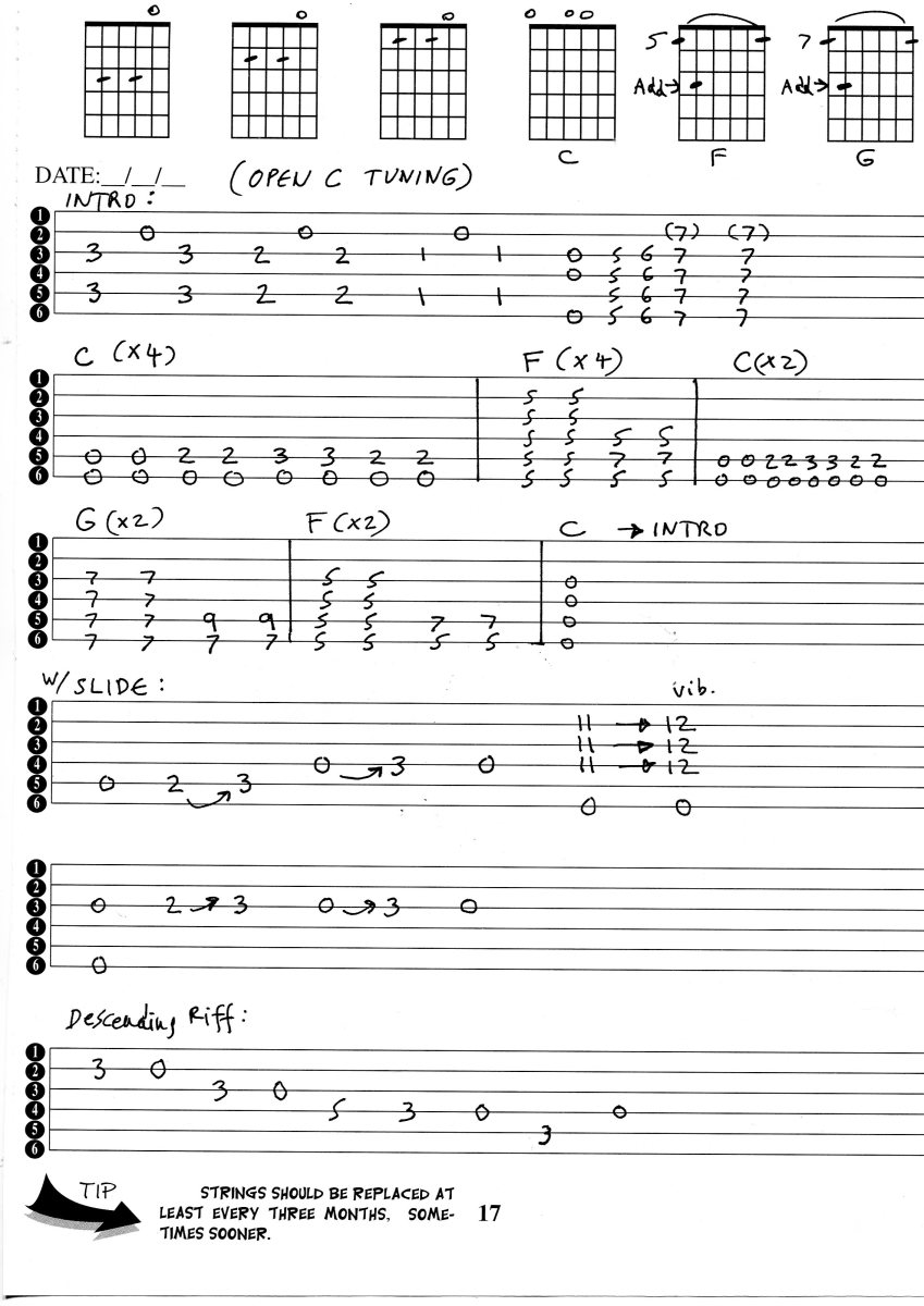 Guitar Tunings - Open C Blues