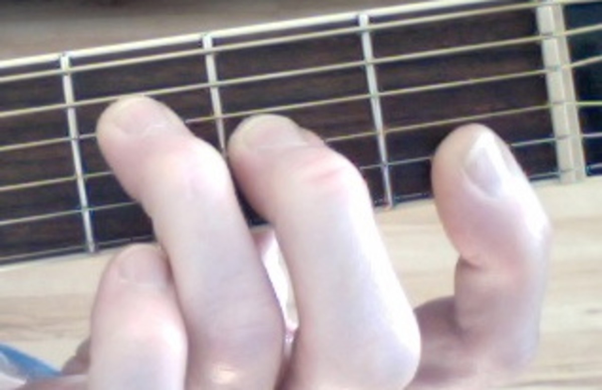 This is the normal F Major shape. The first finger barres the E and B strings. You may have to curve your finger slightly or even fret the two strings with the tip of your index finger.