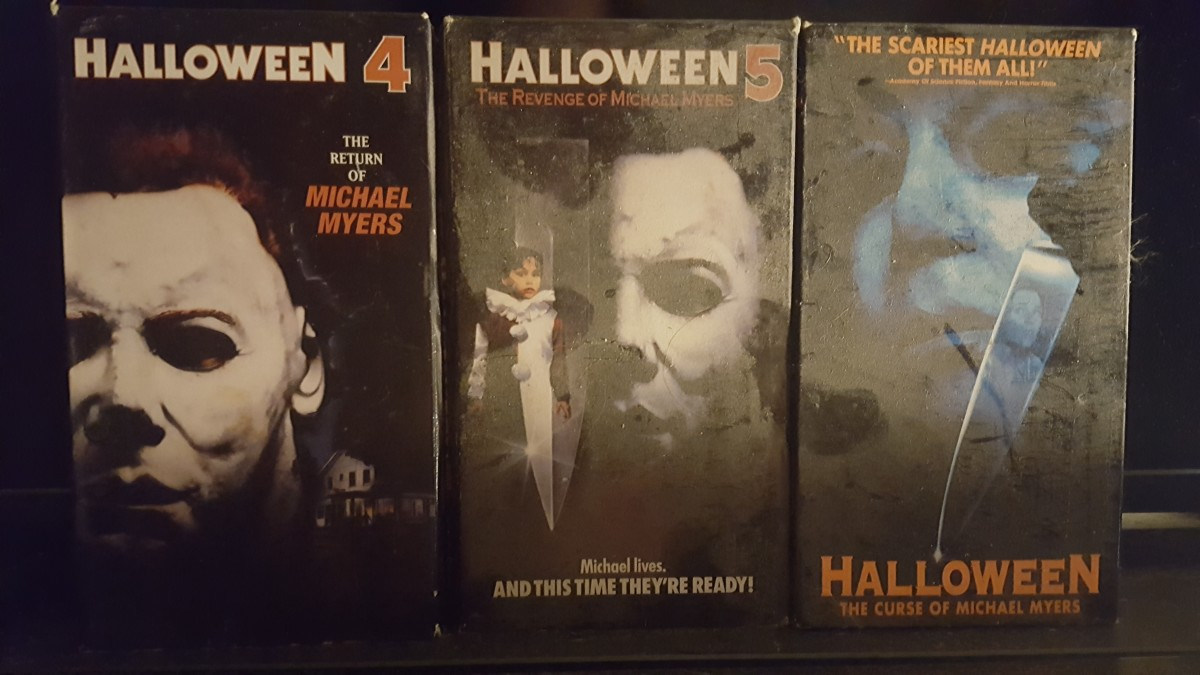 That is genuine dust on my personal VHS copies of Halloween 4, 5, and 6.