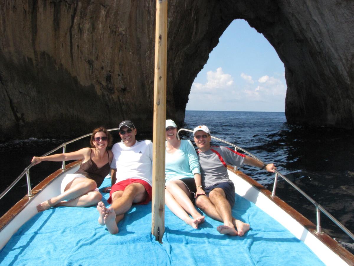 Cruising around Capri