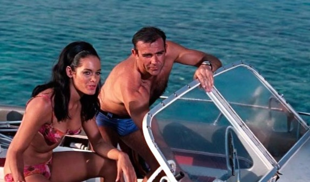 Martine Beswick with Sean Connery