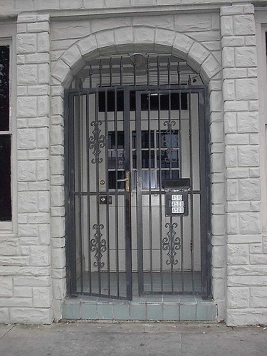 Cielo Drive door at its new home at Nothing Studios