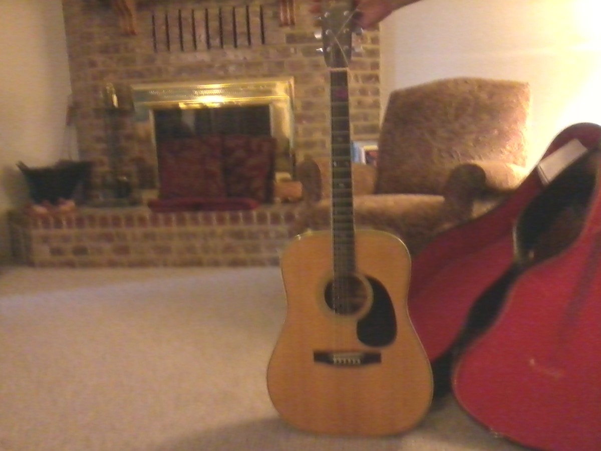 My Fender F 65 Acoustic Guitar - Flatpicking.