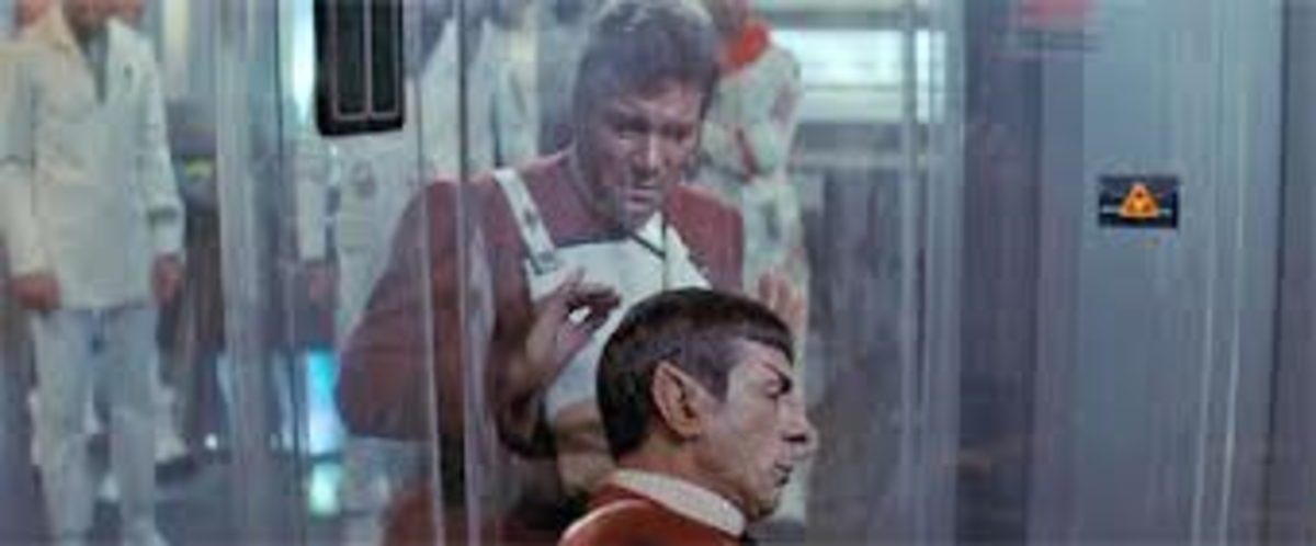 "I love you, man! (William Shatner and Leonard Nimoy from ""Star Trek II: The Wrath of Khan"")"