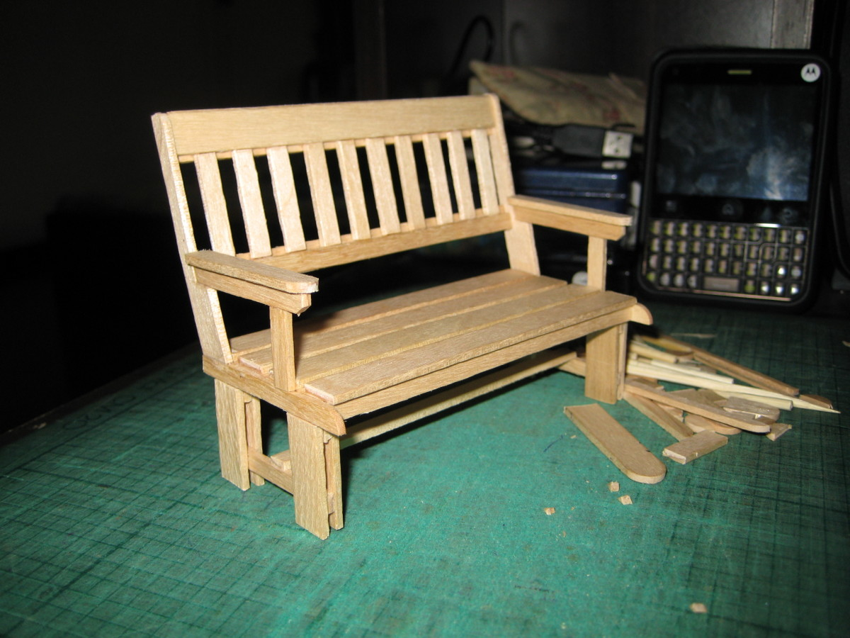 Craft Ideas Cream Sticks On My Hobby Miniature Park Benches For Dolls
