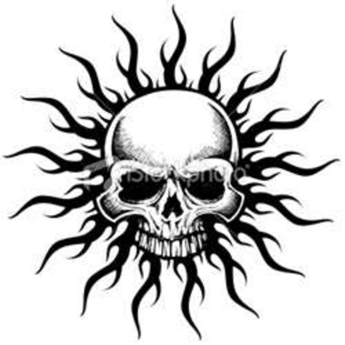 Mens Small Skull Tattoos