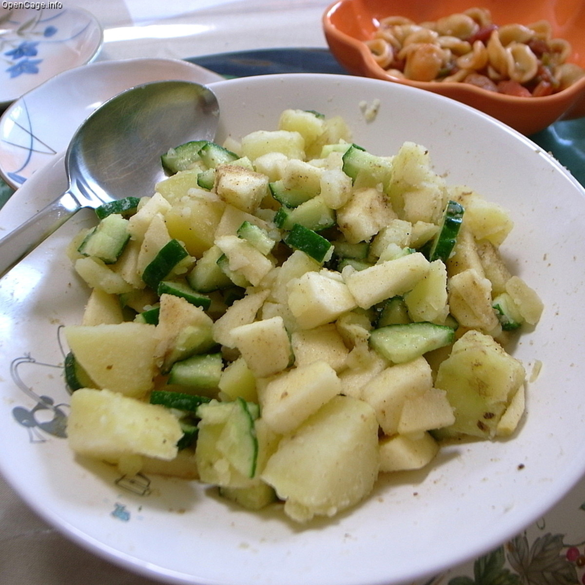 A variation with apples.