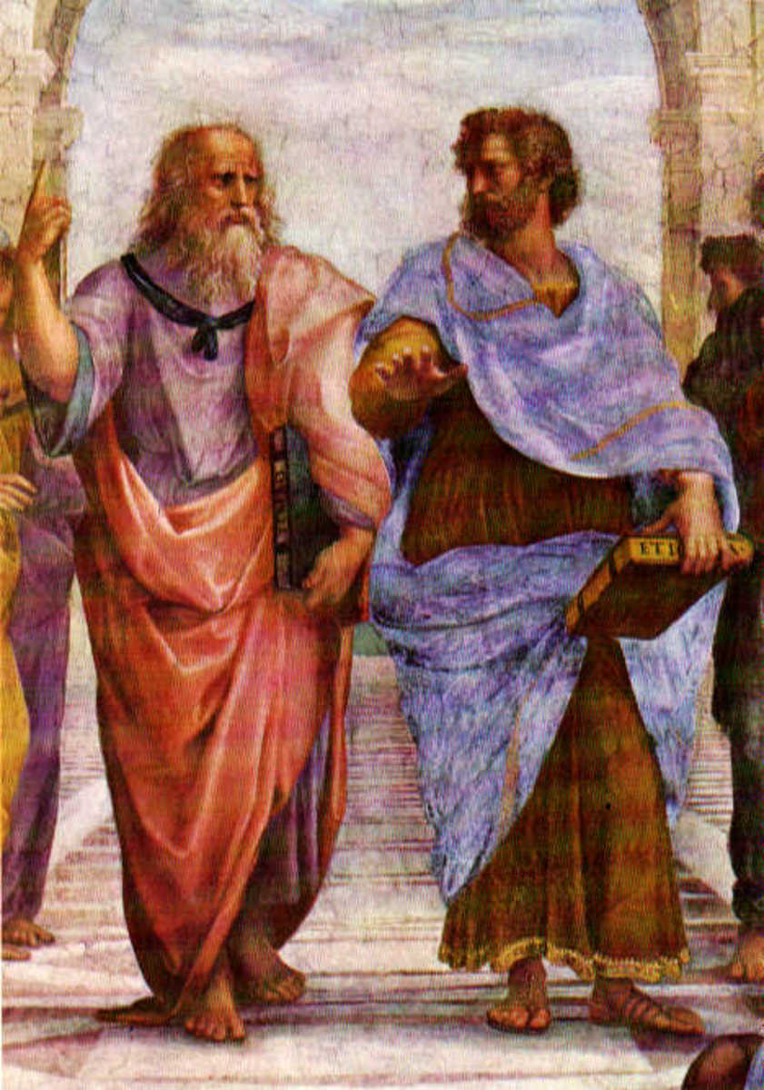 Plato & Aristotle, teacher & pupil.
