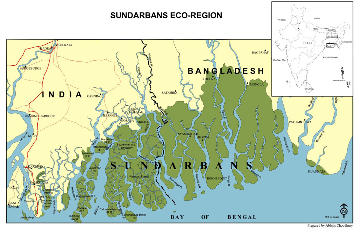 Map of the Sudarbans