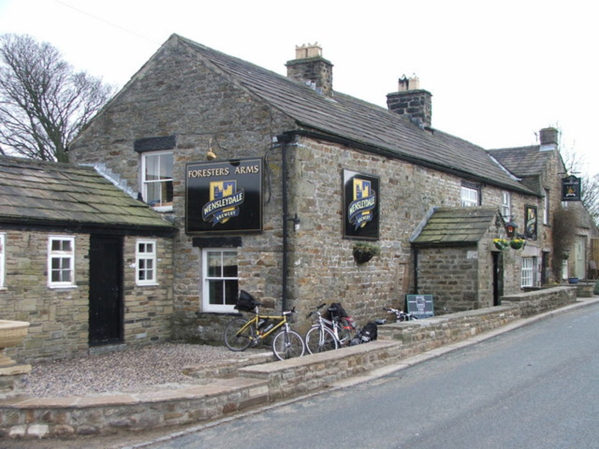 Foresters Arms at Carlton in Coverdale - handy stopping off point if you haven't wet your whistle in Middleham - as long as its open