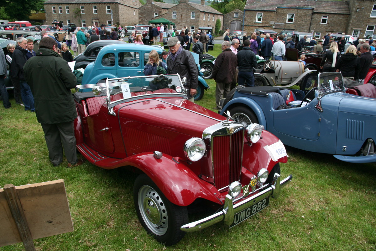 You might come across vintage cars assembling for the Beamish Run (the brewery, not the open air museum). River Bain,  England's shortest river is about two miles long, tumbles down northward from Semerwater, a small lake and outdoor sports centre