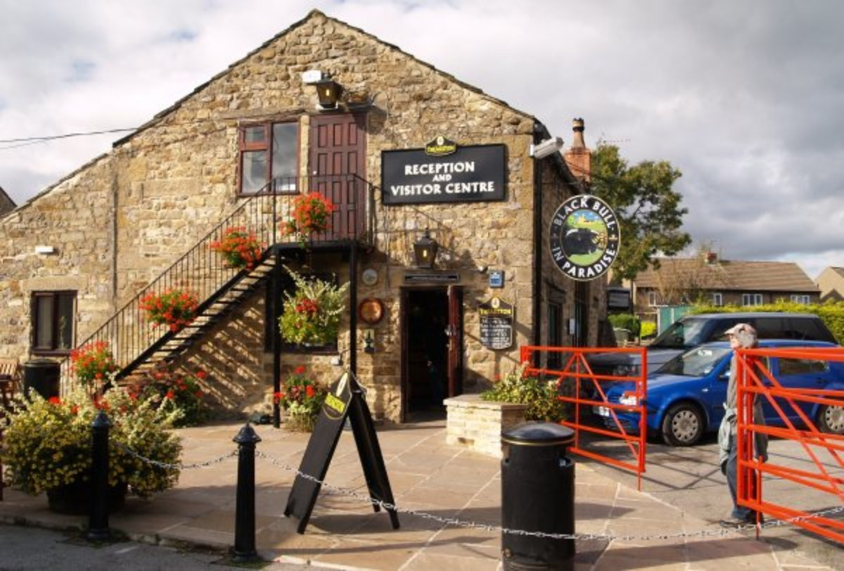 Theakston's Brewery visitor centre where I've visited several times along the way - just a short walk from the market place