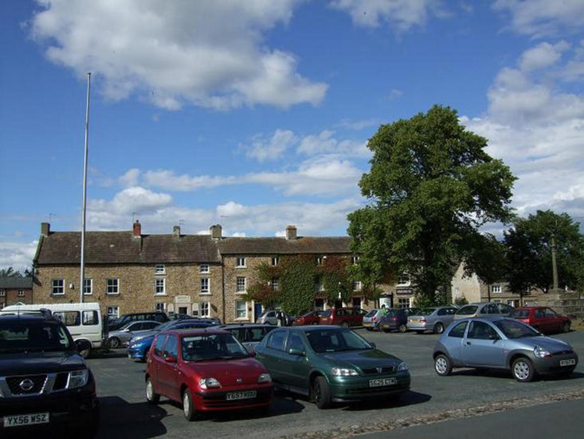 Masham Market Place - sometimes bustling, there were days I couldn't find a parking space