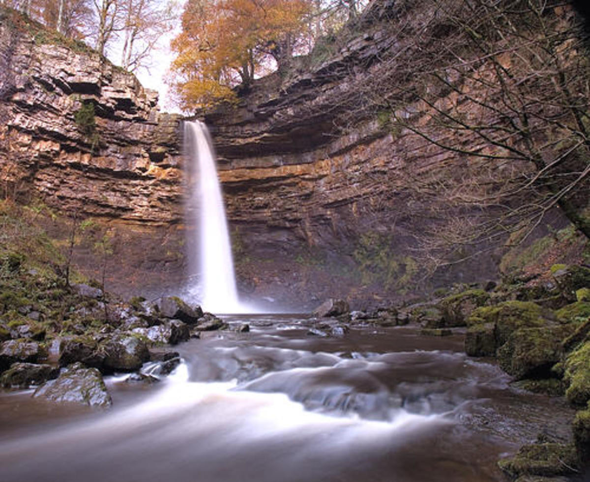 Hardraw Force, once visited by the Wordsworths, is accessed by a shady, treelined path. An ideal site for a picnic you reach through...