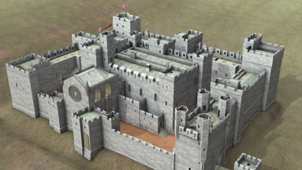 Middleham Castle reconstruction shows the layout of a palace, which was how the site was developed by the time it came into the hands of erstwhile friend and namesake Richard Duke of Gloucester - later King Richard III
