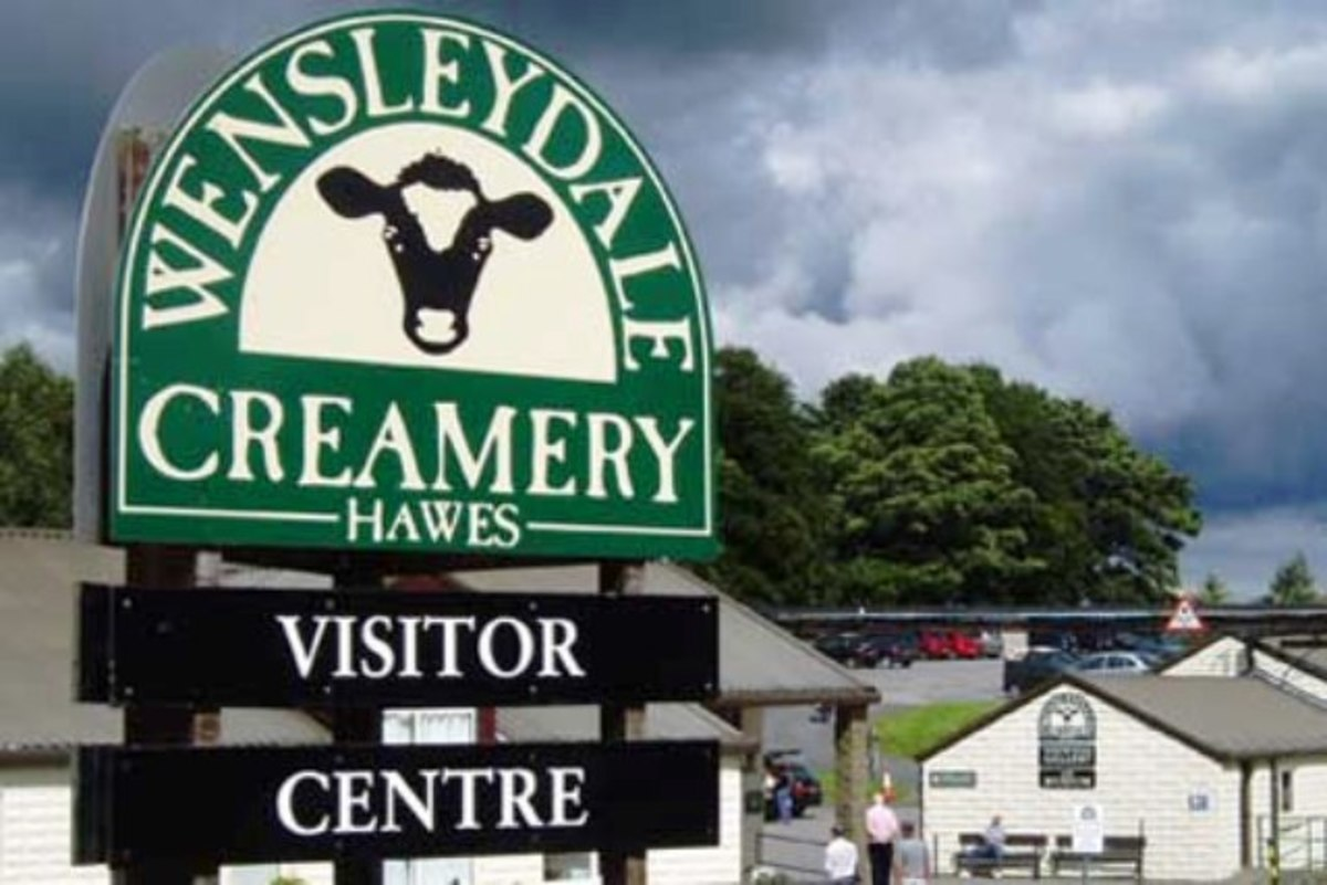 The Hawes Creamery on the road out to Gayle (and Ribblehead). See the town plan below