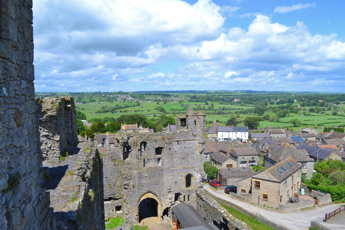 Middleham Castle to the south of the town - west is the road up to Coverdale, north to Leyburn, east to Bedale and Ripon