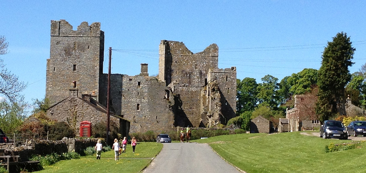 Castle Bolton - when the castle belonged to the Scrope family in the 16th Century one famous 'lodger' was Mary Queen of Scots (until she decided to abscond without paying her bill)