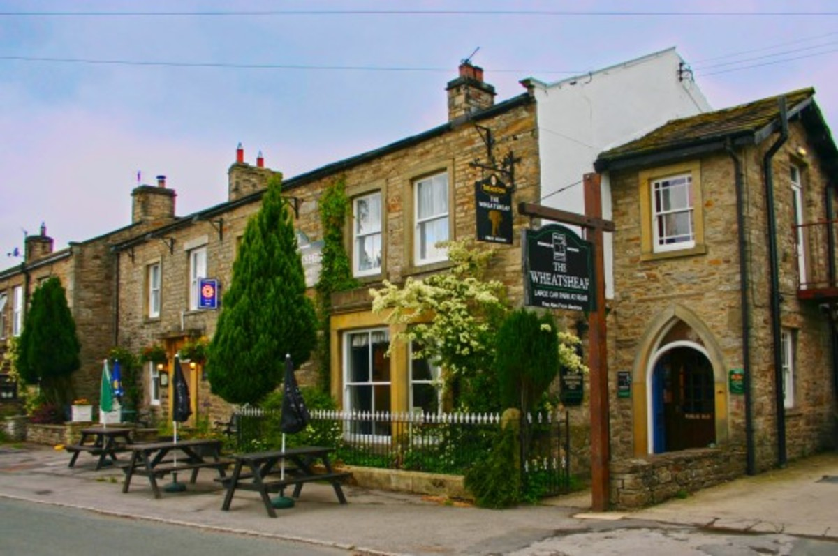 The Wheatsheaf Hotel at Carperby near Leyburn - the village pub when we stayed self-catering across the way one year