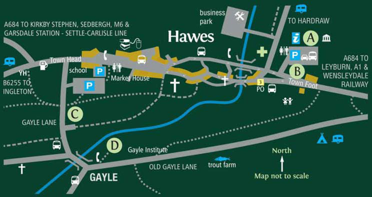 Hawes 2013 Plan of the market town