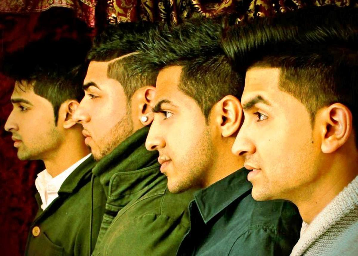 From left to right - Hussain, Atif, Waqas and Shehryaar.