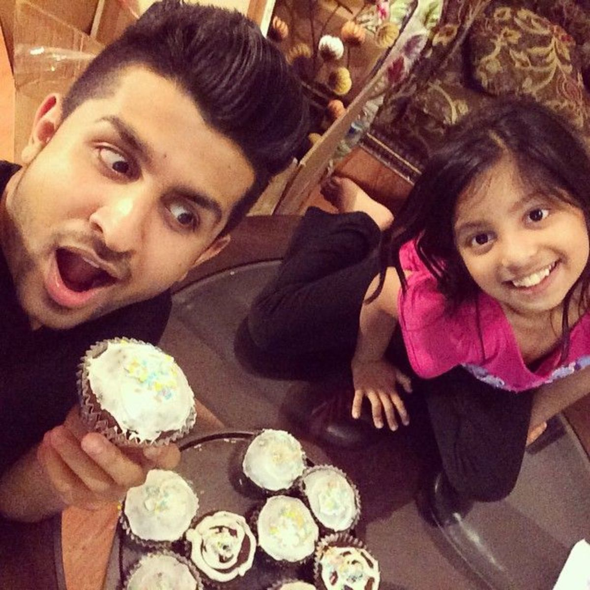 Shehryaar with his sister Maha.
