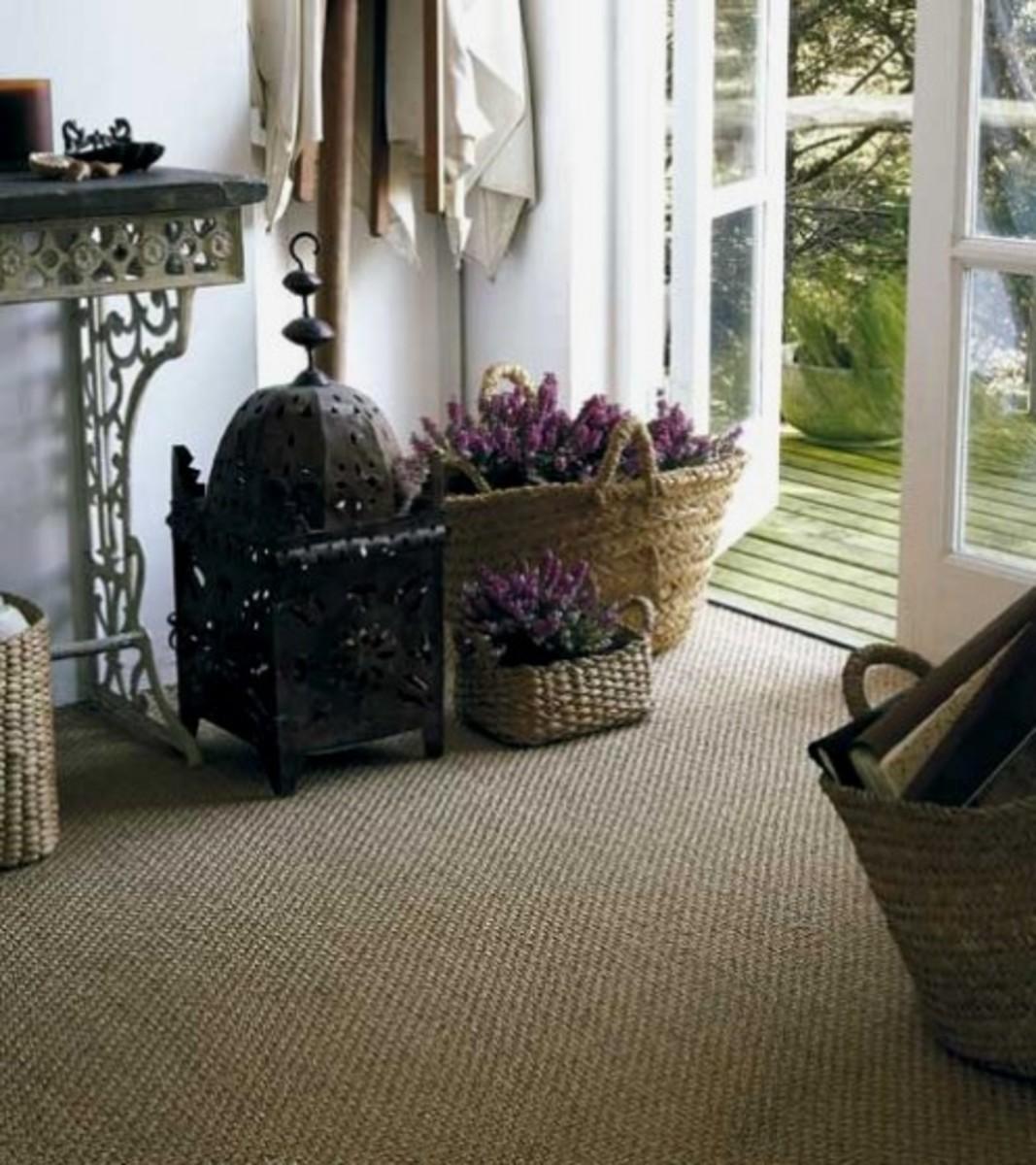 Jute Rug On Laminate Floor: Cheap Flooring Solutions: Seagrass, Painted Floorboards