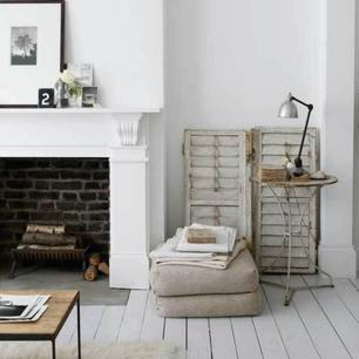 Simple, painted floorboards can be beautiful  from livingetc.com